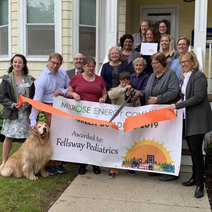 Fellsway Pediatrics Receives first Melrose Green Building Award